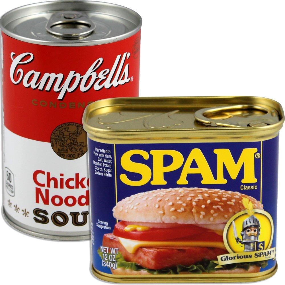 BigMouth Inc (Set) Spam and Campbell's Soup Can Secret Safes - Hide in Stuff Plain Sight