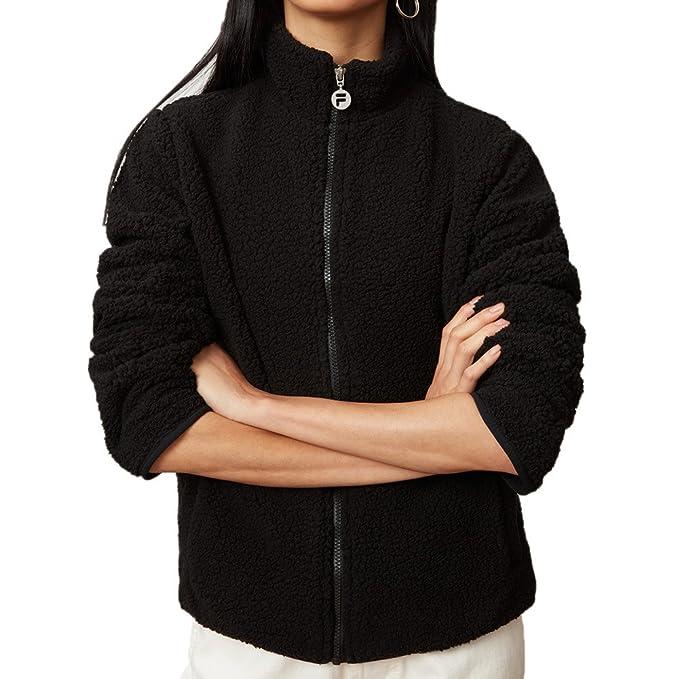 Amazon.com: Fila Mujer Stevie Sherpa chamarra, XL, Negro ...