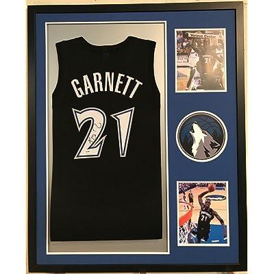 Kevin Garnett Signed Custom Framed Minnesota Timberwolves Jersey 3 PSA Coa bfeccd35a