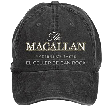 Feimengshirt Adjustable Macallan Beer Logo Washed 100% Cotton Baseball Caps Black