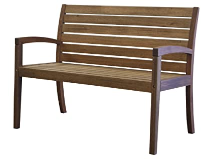 Amazon.com : Timbo Vila Rica Hardwood Outdoor Patio 2 Seat Bench ...