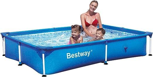 Bestway 56040 Splash Piscina Rettangolare Senza Pompa, 221X150X43 ...