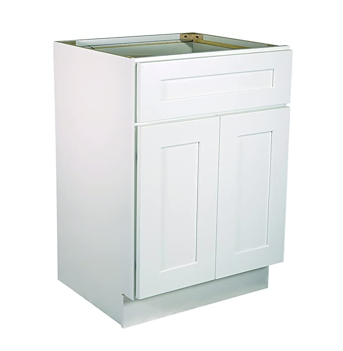 design house 561357 brookings 21 inch base cabinet white shaker rh amazon in 21 inch base cabinet trash drawer 21 inch deep base cabinet