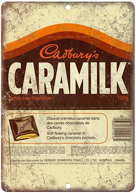 aoeiu Cburys Caramilk Candy Bar Cartel de Metal Decoración ...