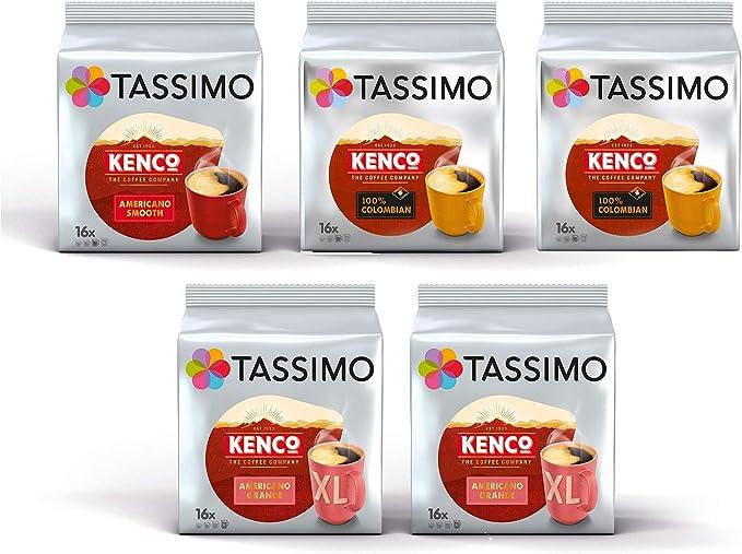 5 x 16 T-Discs Paquete de 5 40 Tazas Tassimo Jacobs Cappuccino