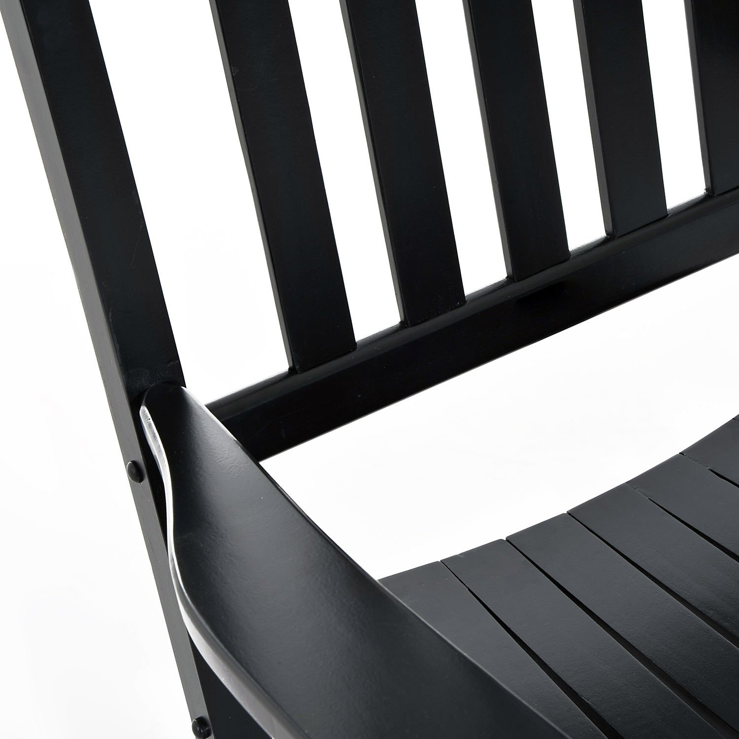Outsunny Porch Rocking Chair - Outdoor Patio Wooden Rocker - Black by Outsunny (Image #6)