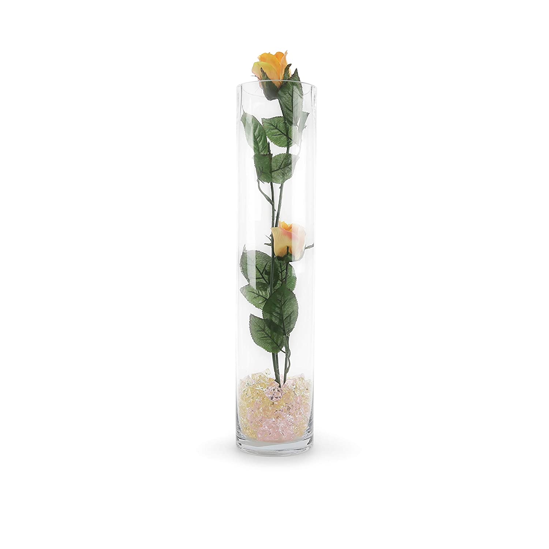 WGVI VCY0418_1 Cylinder Glass Vases 4 x 18