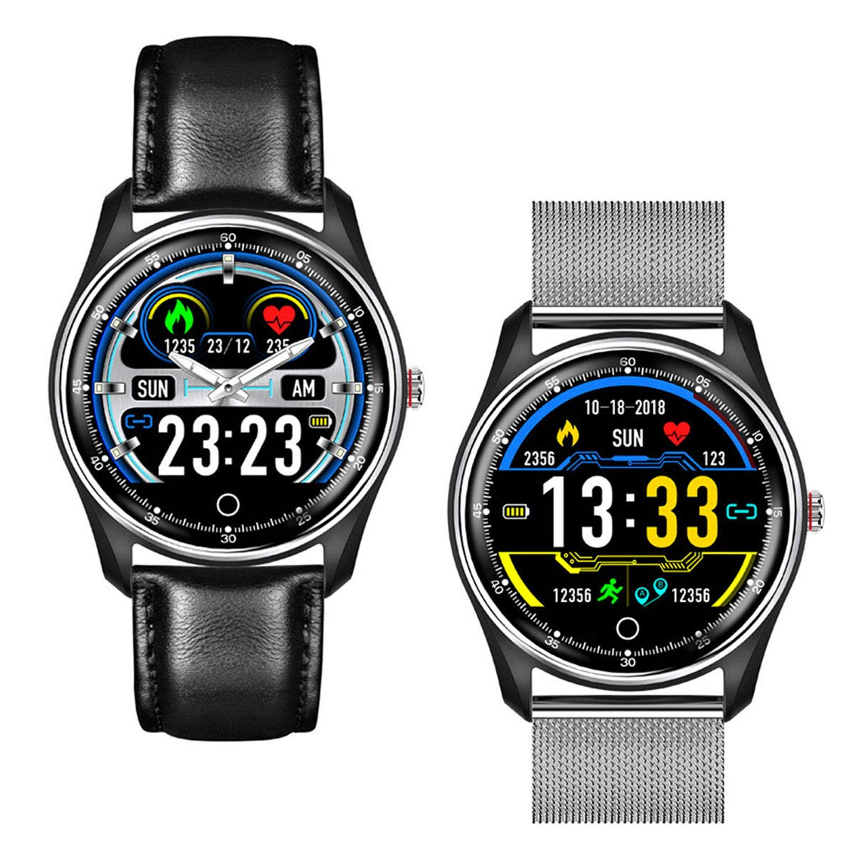 Amazon.com: ECG Smart Watch Fitness Tracker,IP68 Waterproof ...