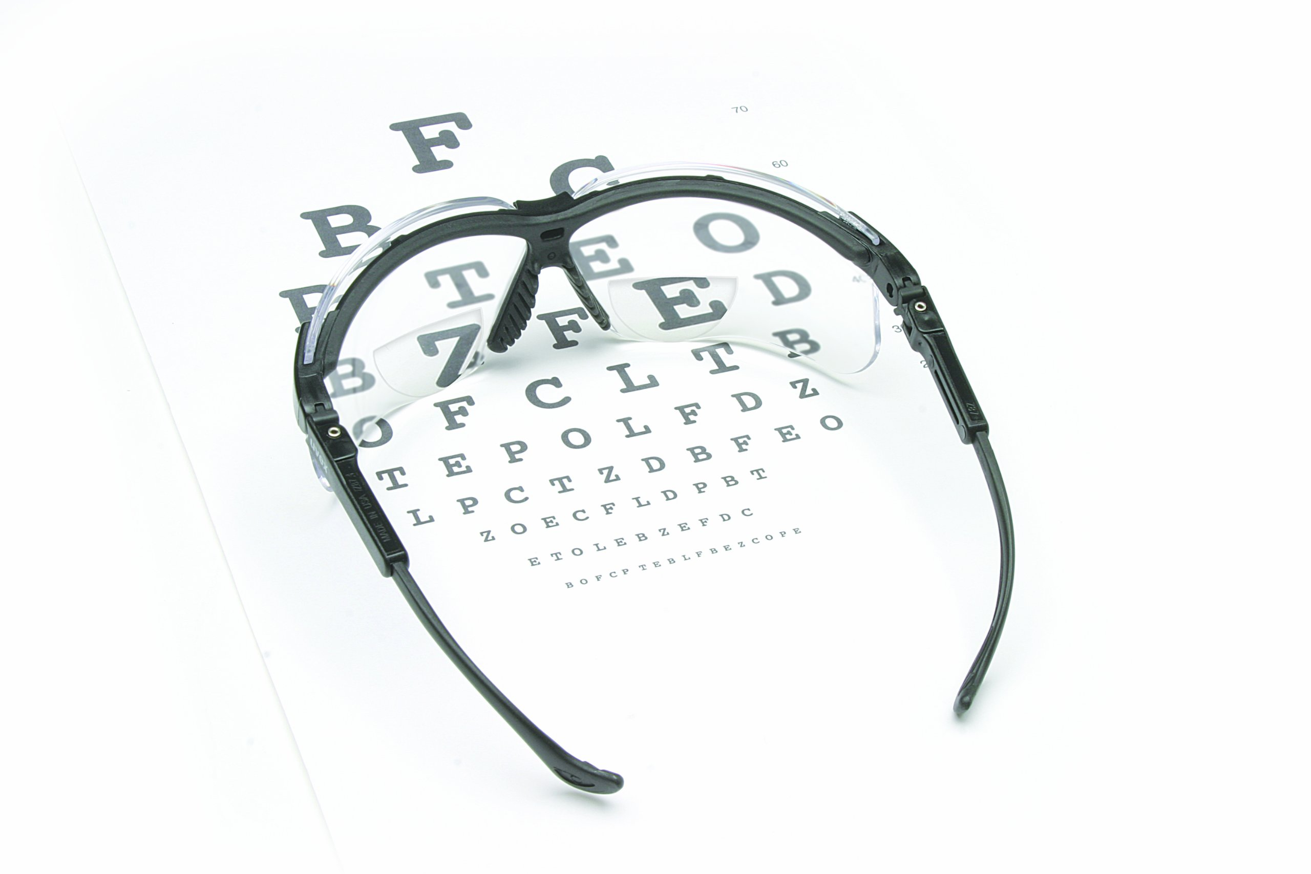 Uvex S3761 Genesis Reading Magnifiers Safety Eyewear +1-1/2, Black Frame, Clear Ultra-Dura Hardcoat Lens by Uvex (Image #2)