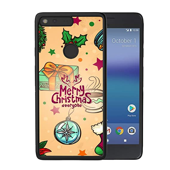 hd merry christmas google pixel case flexible drop protective shockproof rugged pc and tpu cover