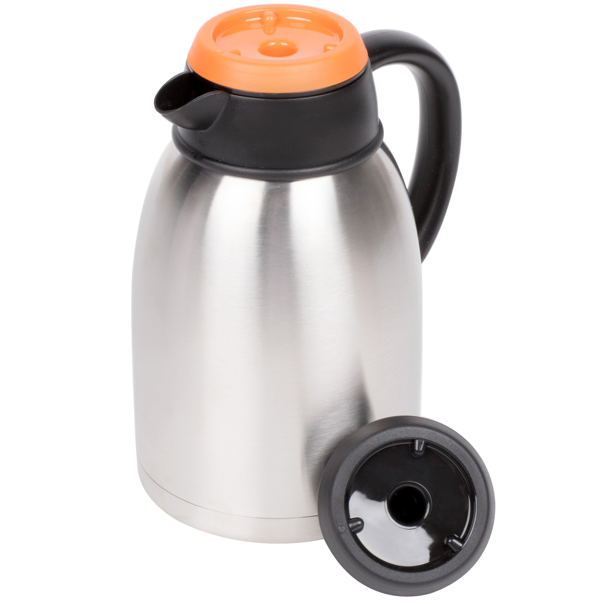 1.9 Liter Insulated Thermal Coffee Server with Regular and Decaf Lids - 9 1/2'' x 5 1/2''