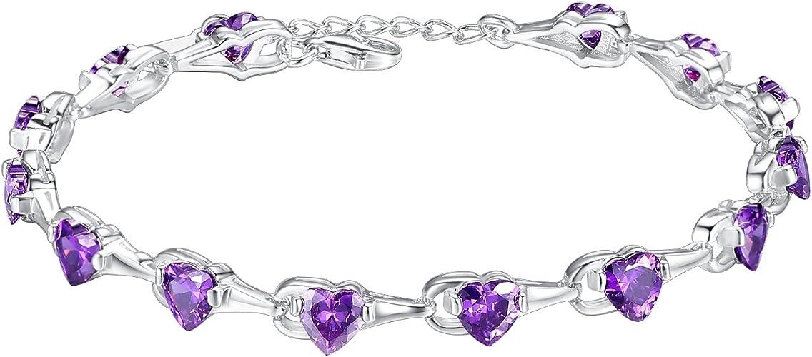 Jewelry set Violet Amethyst 925 Sterling Argent PREMIUM fête de mariage