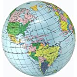 Inflatable Globe World Map. 12 Pieces  1 Dozen Bulk LOT Inflatable Blow up Blue Earth World Globe Amazon com Up Map Atlas Ball