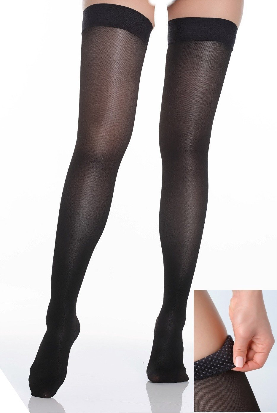 ITA-MED Sheer Thigh Highs - Compression Stockings (23-30