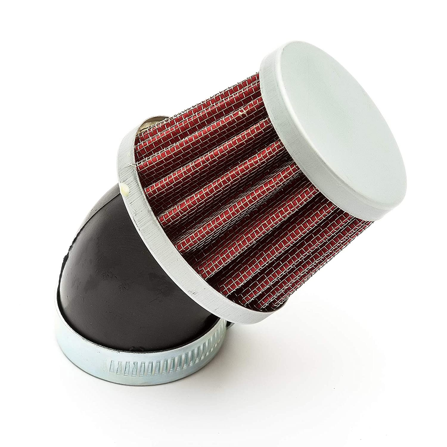 35mm Petrolscooter Air Filter Red Performance Mushroom Style Bent Neck
