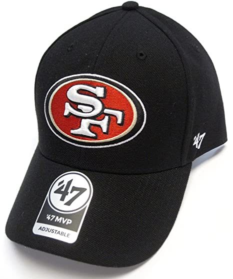 1f83062d '47 San Francisco 49ers NFL Basic Black Brand MVP Adult Adjustable Hat Cap