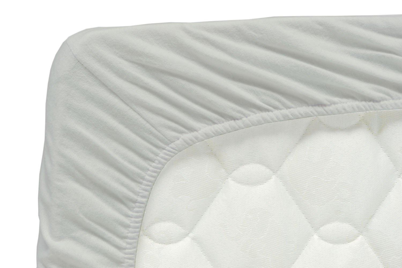 Briljant Children's Jersey Fitted Bed Sheet, 80/90x 200cm, Cotton, anthracite, 90 x 200 x 30 cm Briljant baby JHL090X200X85R