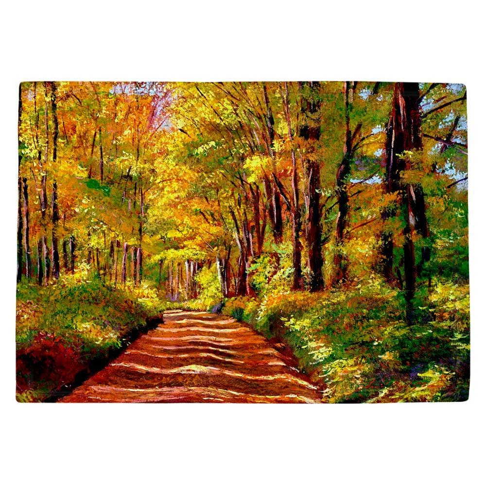 DIANOCHEキッチンPlaceマットby David Lloyd Glover – Silence Is Golden Set of 4 Placemats PM-DavidGloverSilenceisGold2 Set of 4 Placemats  B01EXSIQ7S