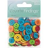 Blumenthal Lansing Favorite Findings Basic Buttons Assorted Sizes, 130/Pkg, Citrus