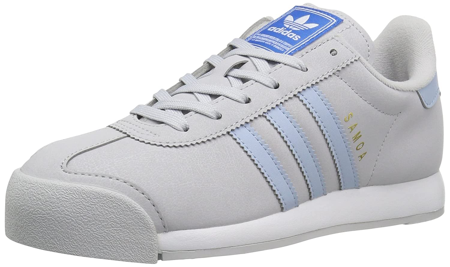 adidas Originals Women's Samoa W Sneaker B01HNEH7II 10 M US|Lgh Solid Grey/Easy Blue/White