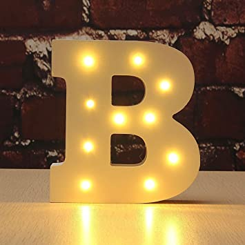 Amazon.com: CHUQ letras iluminadas de madera alfabeto A-Z ...
