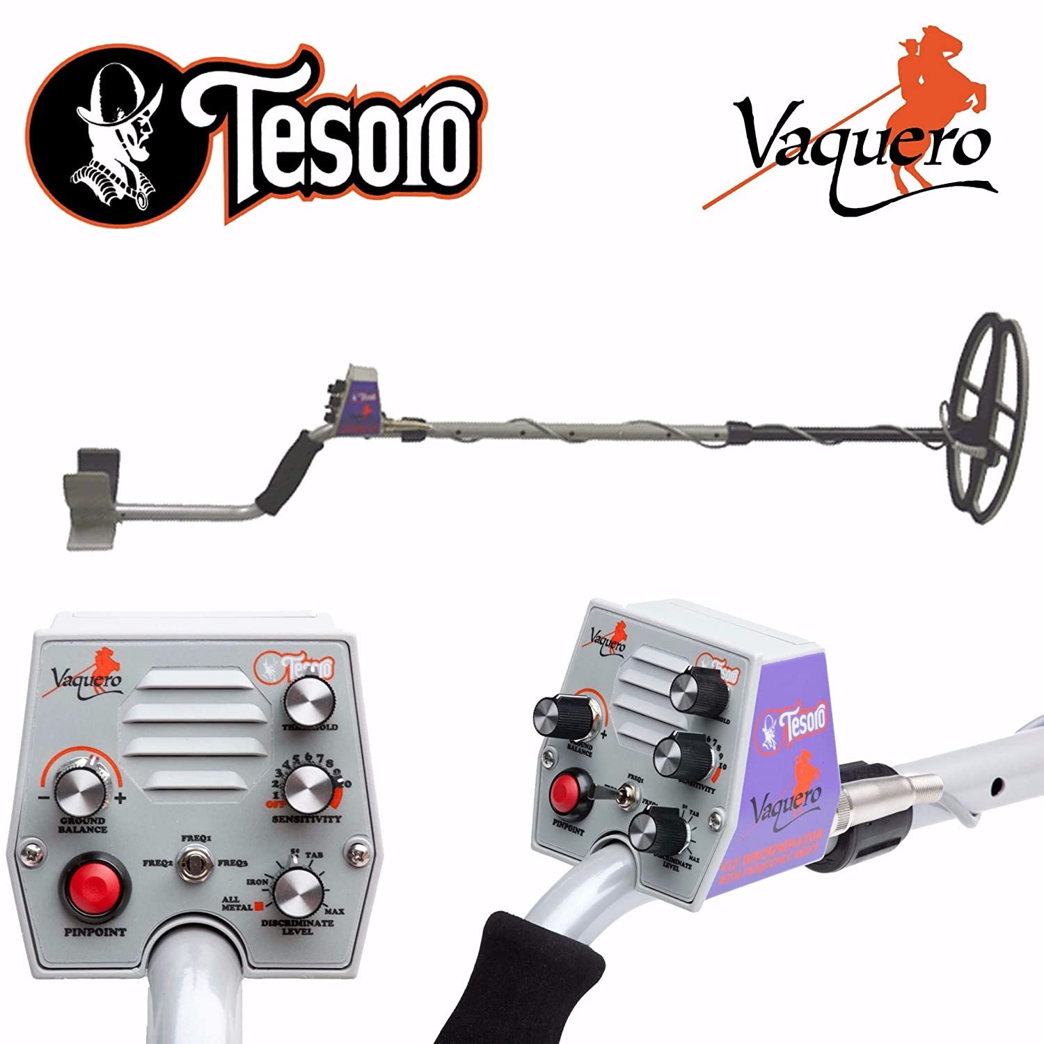 Amazon.com : Tesoro Vaquero Metal Detector with 11