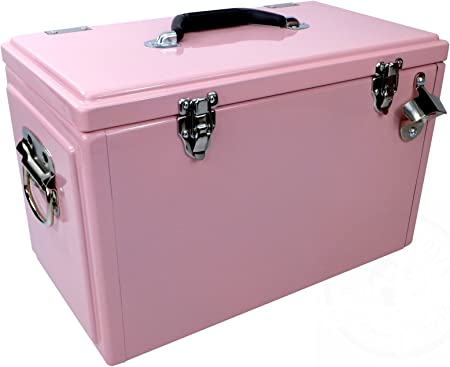 1021515 – Retro de nevera portátil Toolbox Color Rosa: Amazon.es: Jardín