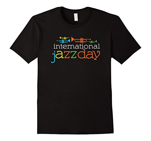 Mens International Jazz Day T-shirt 2XL Black