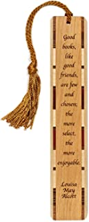product image for Personalized Louisa May Alcott Books and Friends Quote, Engraved Wooden Bookmark with Tassel - Search B01A016G2O for Non-Personalized Version