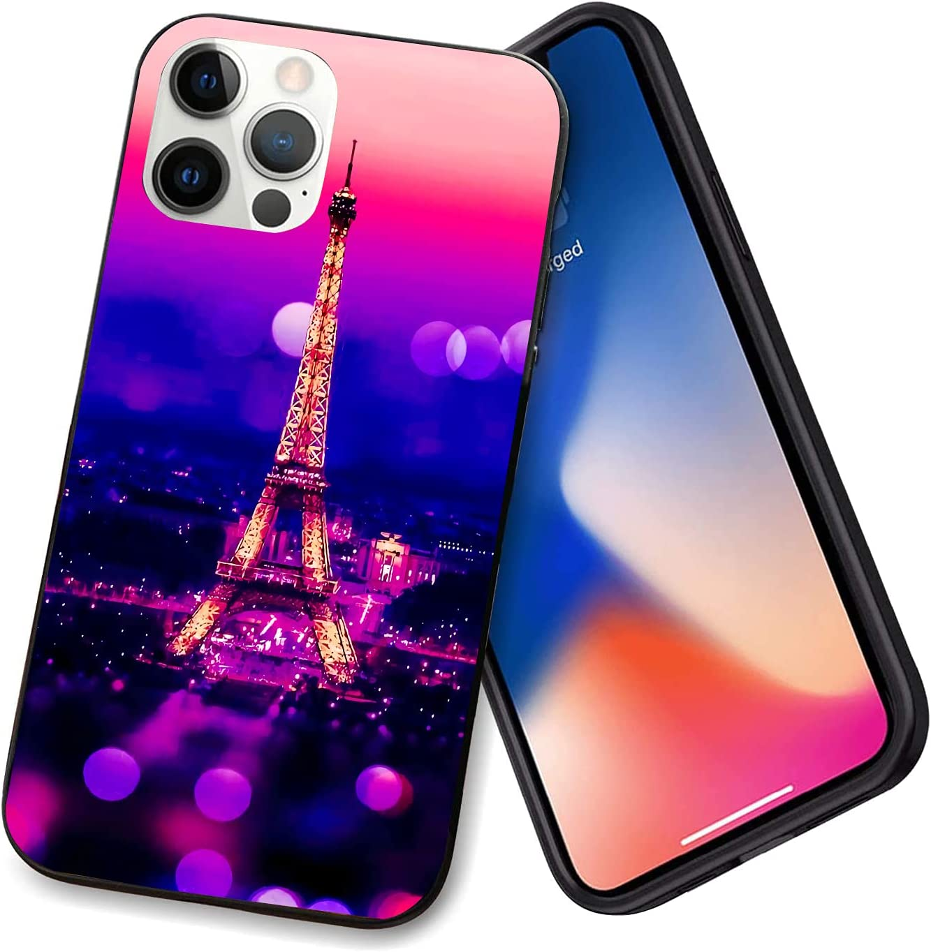 Compatible with iPhone 12 Series Case A Colorful Tower for iPhone 12 Pro Max 6.7inch (2021)