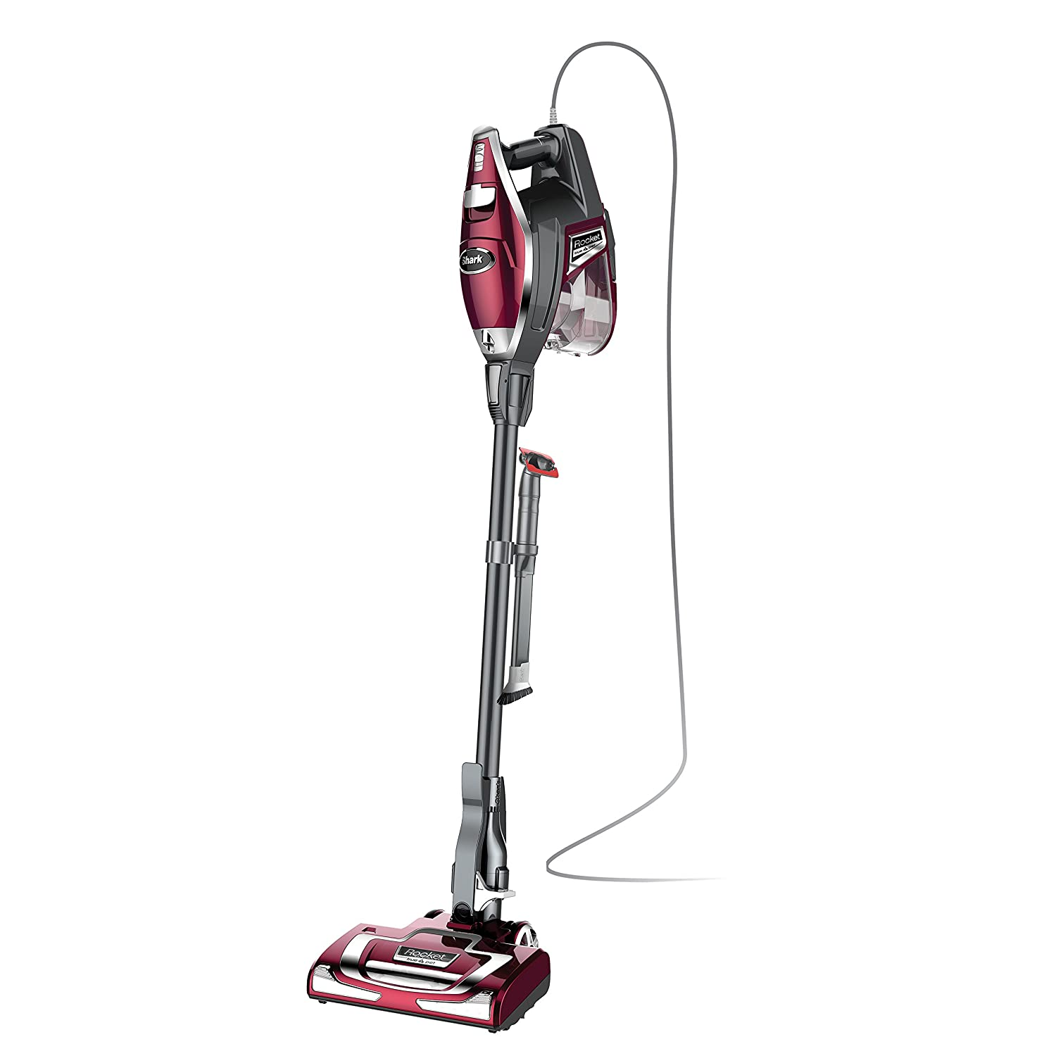 Shark Rocket TruePet Ultra-Light Corded Bagless Vacuum Converts to Hand Vacuum with Pet Tool and Hard Floor Hero Attachment (HV322), Bordeaux SharkNinja