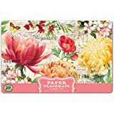 Michel Design Works 25-Count Paper Placemats, Morning Blossoms