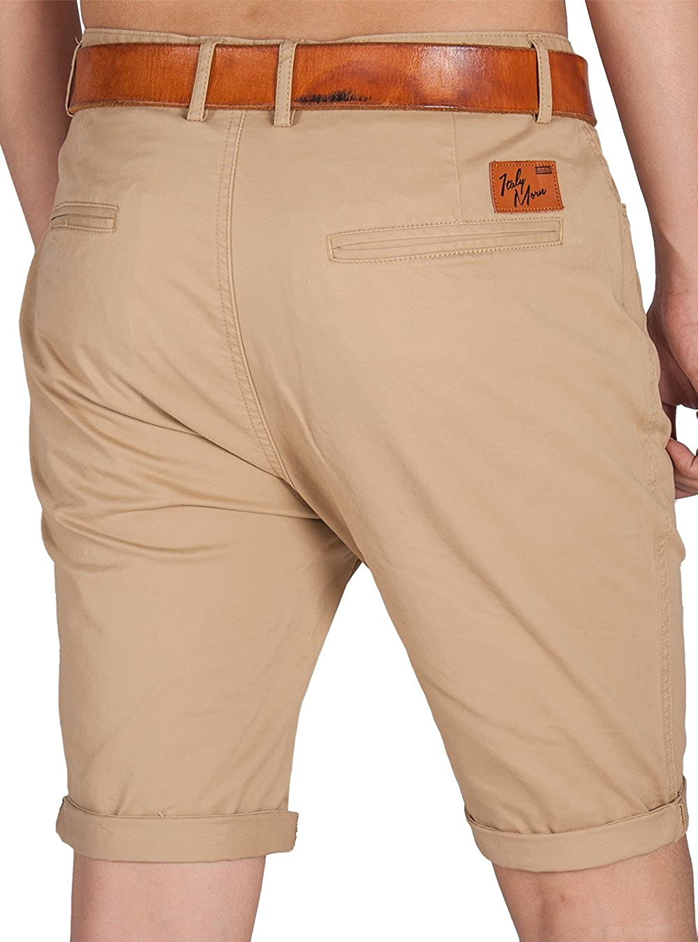 ITALY MORN Homme Casual Flat Front Chino Shorts af3dae76cbc