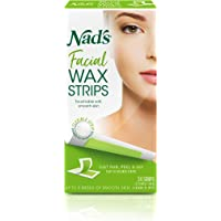Nad's Facial Wax Strips (Pack of 2) - Hypoallergenic All Skin Types - Facial Hair Removal For Women - At Home Waxing Kit…