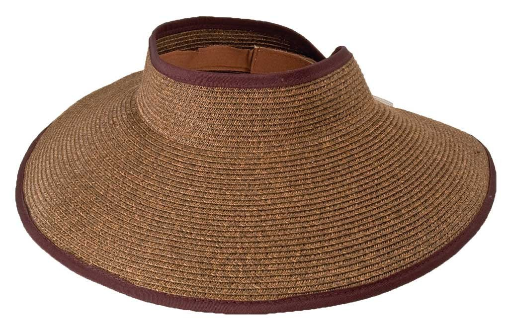 Packable Travel Sun Visor 4'' brim, - NH72 (Brown)