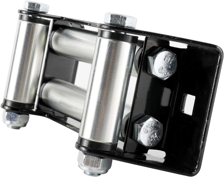 152MM YaeKoo Winch Roller Fairlead 6 Mount 4000-5500 LBs Bolt Pattern for Steel Cable ATV//UTV Winches