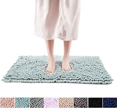 40x60cm Bath Pedestal Mat Sets Non Slip Water Absorbent Chunky Bathroom Rug Soft