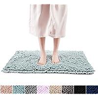 FRESHMINT Chenille Bath Rugs Extra Soft and Absorbent Microfiber Shag Rug, Non-Slip Runner Carpet for Tub Bathroom…
