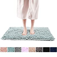 FRESHMINT Chenille Bath Rugs Extra Soft and Absorbent Microfiber Shag Rug, Non-Slip...