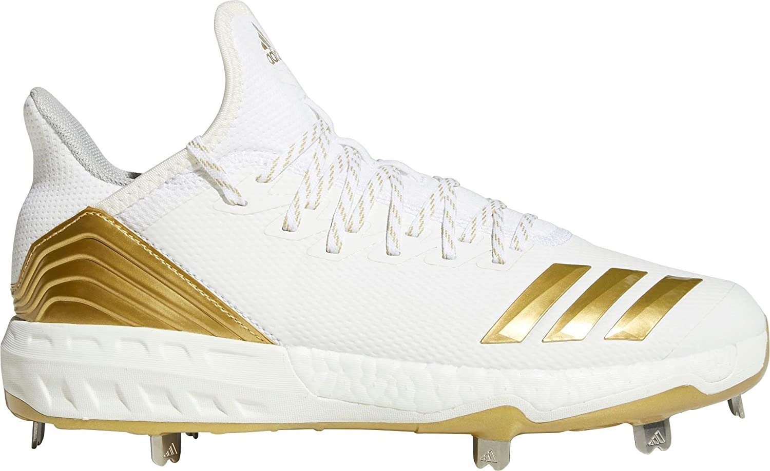 White gold adidas Men's Icon 4 Metal Baseball Cleats