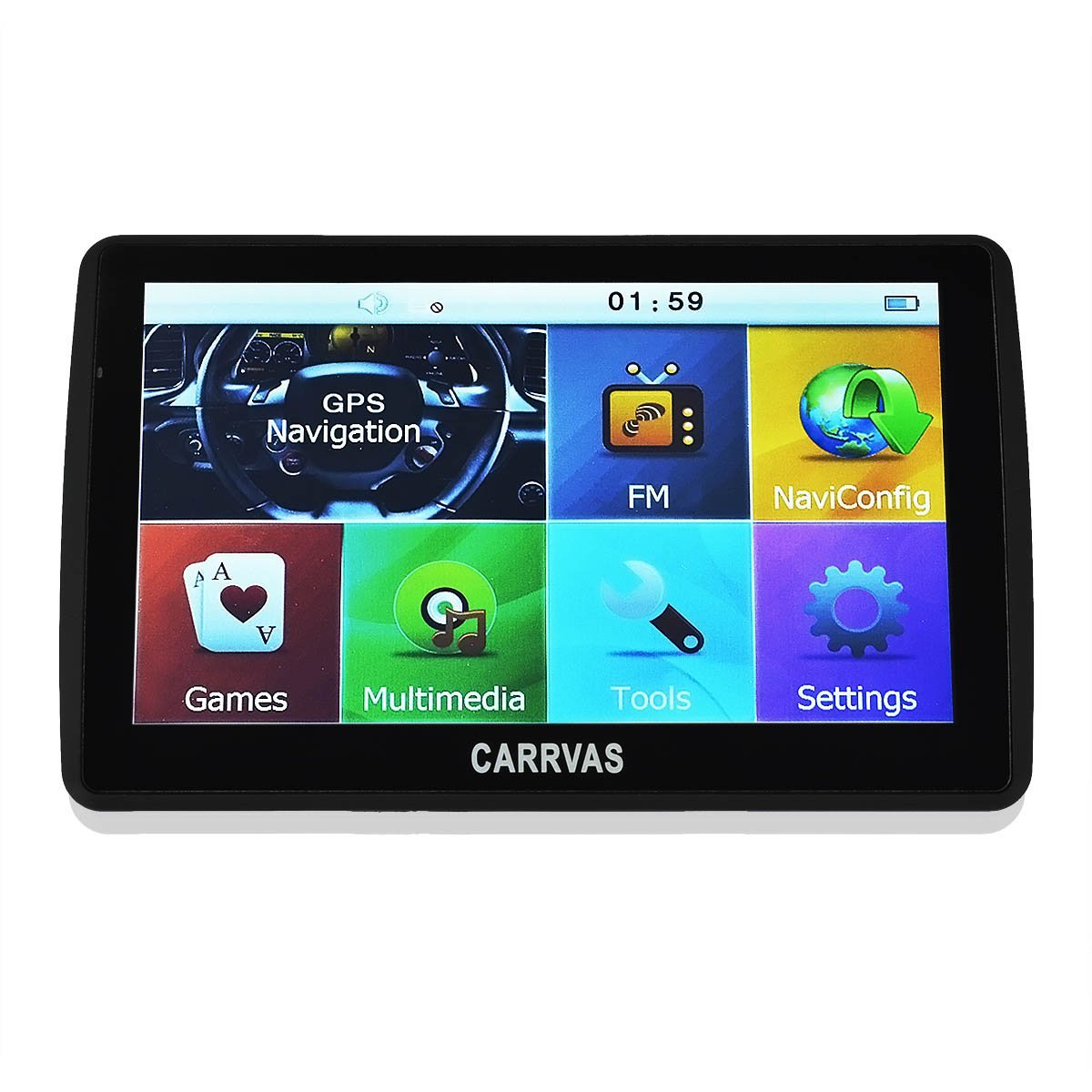 CARRVAS Inch GB Sat Nav Navigation Gps Truck Car Traffic - Gps with us and europe maps