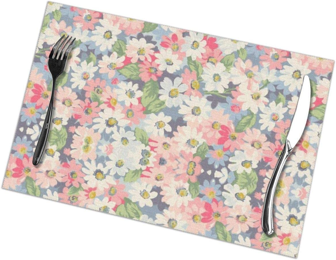 Amazon Com Small Fresh Floral Placemats For Dining Table Set Of 6 Washable Table Mats Kitchen Place Mats Easy Clean Placemats For Room Kitchen Table Decor 12 X 18 In Kitchen Dining