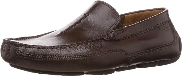 Clarks Ashmont Race, Mocasines para Hombre, Marrón (Brown Leather), 46 EU: Amazon.es: Zapatos y complementos
