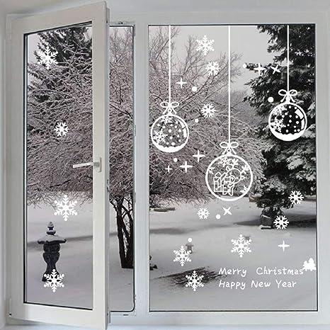Natale Adesivi Display Rimovibile Fiocco Di Neve Natale Addobbi Murali Fai Da Te Finestra Decorazione Vetrina Adesivi E Murali Da Parete Sticker