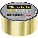 "Scotch Expressions Metallic Tape, 3/4 "" x 200 "", Gold, 6 Rolls (C414-GLD)"