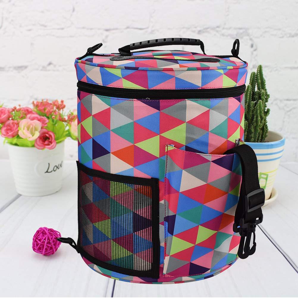 96e74efc2a76 Simple Colorful Round Wool Storage Bag DIY Crochet Storage Organizer ...