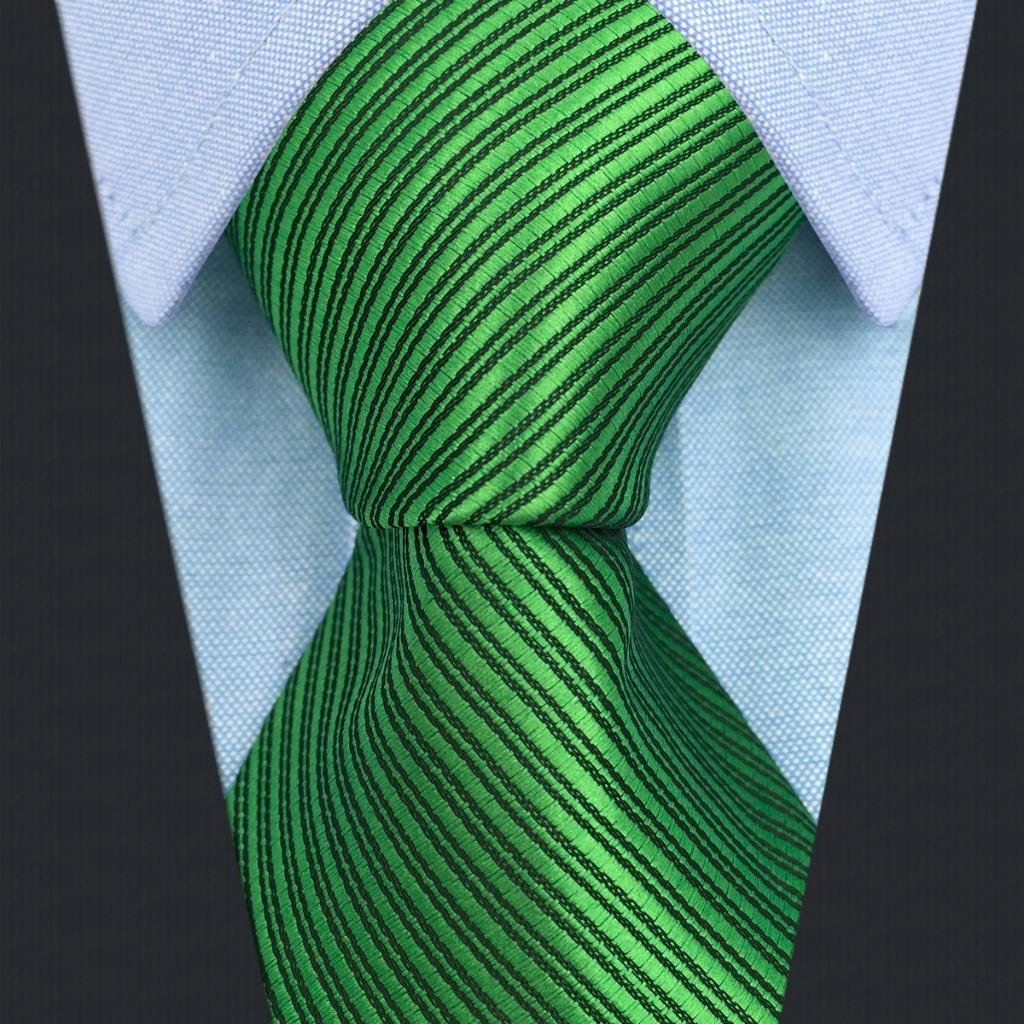 SHLAX&WING Solid Color Green Necktie for Men Business Wedding New Tie Set Long by S&W SHLAX&WING (Image #3)