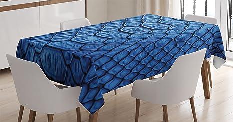Amazon.com  Ambesonne Animal Print Decor Tablecloth 5cf61e1d41
