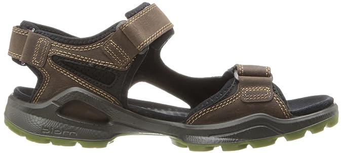 Ecco 825044 G, Sandales de sport et d'extérieur homme - Marron - Brown - dunkelbraun/grün, 45 EU