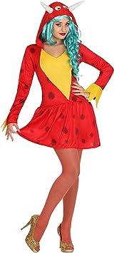 Atosa-26633 chica sexy Disfraz Dragón, color rojo, X-Large (26633 ...
